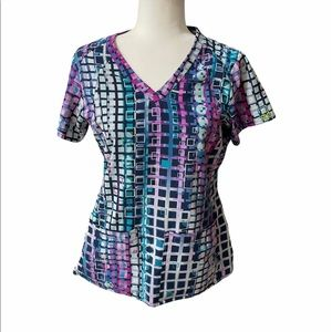 Women's Size M Activate by Med Couture Scrubs Top